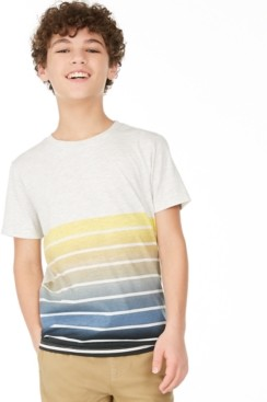Epic Threads Big Boys Ombre Stripe T-Shirt, Created for Macy's