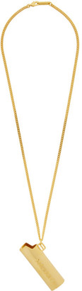 Ambush Gold Logo Lighter Case Necklace
