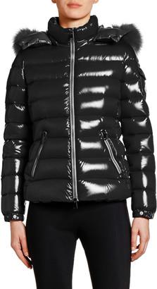 Moncler Badyfur Puffer Jacket w/ Fur-Trim Hood