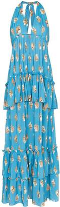Adriana Degreas Conchiglie ruffled maxi-dress