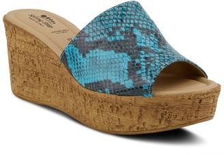 Spring Step Slip-On Wedge Heel Sandals - Mercury