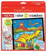 Faber-Castell Foil Fun Color by Number Coloring Kit - Dinosaur