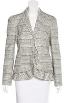 RED Valentino Bouclé Long Sleeve Blazer