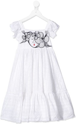 Raspberry Plum Greta lace dress