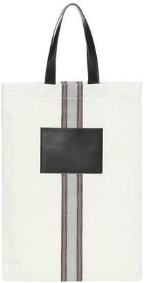 Jil Sander Exclusive to Mytheresa leather-trimmed canvas shoulder bag