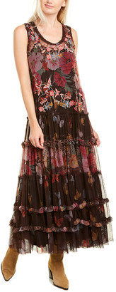 Johnny Was Whiloy Mesh Maxi Dress