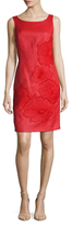 Josie Natori Lacquered Raffia Dress