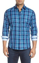 Stone Rose Men's Trim Fit Plaid Sport Shirt