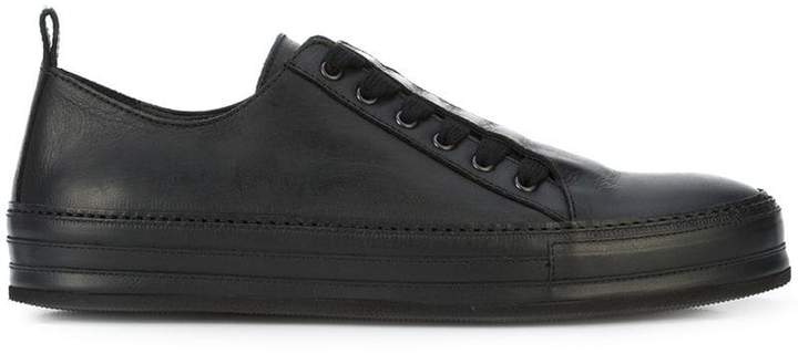 Ann Demeulemeester leather top sneakers