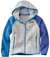 L.L. Bean Kids' L.L.Bean's Sweater Fleece, Hooded, Colorblock