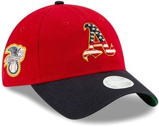 New Era Women's Red Oakland Athletics 2019 Stars & Stripes 4th of July 9TWENTY Adjustable Hat