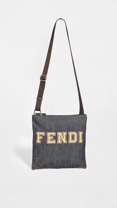 What Goes Around Comes Around Fendi Blue Denim Messenger