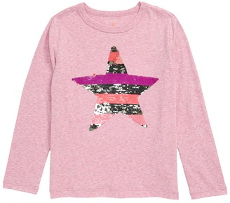 J.Crew Flip Star Sequin Long Sleeve T-Shirt (Little Girls & Big Girls)