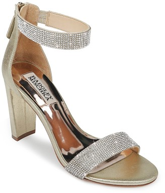Badgley Mischka Elizabeth Embellished Heeled Sandal