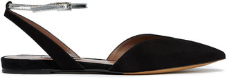Tabitha Simmons Vera Smooth And Mirrored-leather Point-toe Flats