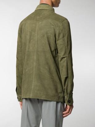 Officine Generale Multi-Pocket Leather Jacket