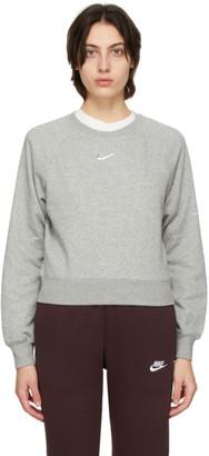 Nike Grey Sportswear Swoosh Sweatshirt