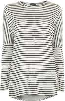 Topshop MATERNITY Slouch Striped Top