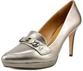 Coach Garden Women US 7 Silver Platform Heel