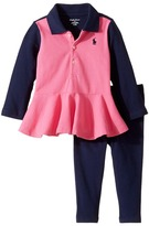 Ralph Lauren Cotton Jersey Jodhpur Leggings Set Girl's Active Sets