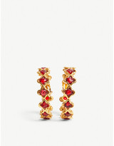 Vestiaire Chanel gold-tone and stone-embellished hoop earrings