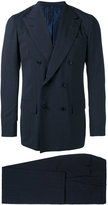 Kiton double-breasted two piece suit - men - Cupro/Wool - 50