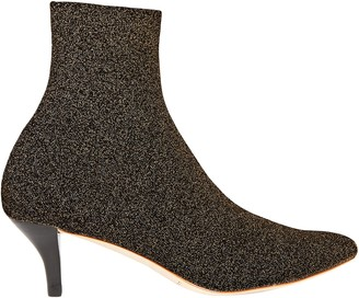 Loeffler Randall Kassidy Glittered Stretch-knit Sock Boots