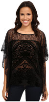 Hale Bob Truth Or Flare Velvert Burnout w/ Lace Top