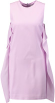 MSGM Ruffled crepe mini dress