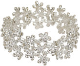 Yours Clothing Silver Floral Cuff Stretch Bracelet