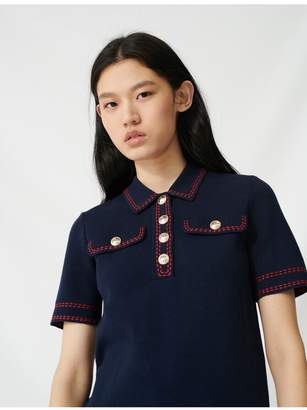 Maje Short-Sleeved Polo-Style Jumper