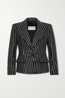 Alexandre Vauthier Crystal-embellished Wool Blazer - Black