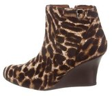 Lanvin Ponyhair Wedge Booties w/ Tags