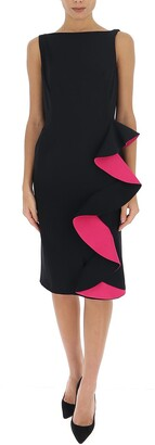 Alexander McQueen Sleeveless Ruffled Midi Dress