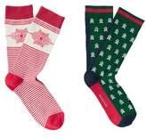MANGO 2 Pack Christmas Printed Socks