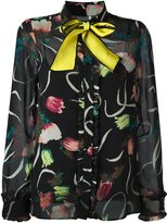 I'M Isola Marras contrast bow collar blouse