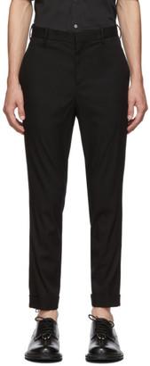 Neil Barrett Black Skinny Zip Trousers