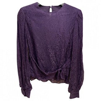 Valentino Red Purple Lace Top for Women