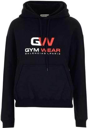 Balenciaga Gym Wear Print Hoodie
