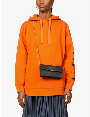 Valentino Branded cotton-blend jersey hoody