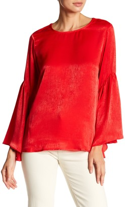 Ro & De Bell Sleeve Lace-Up Back Top