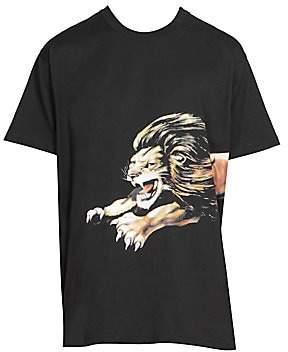 Givenchy Men's Lion Logo Tee