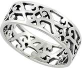 Sabrina Silver Sterling Silver S Scrolls Ring 1/4 inch wide, size 9.5