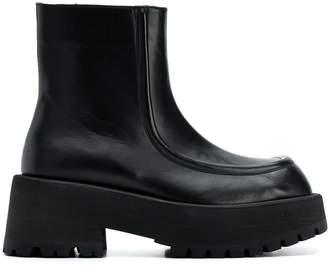 Marni flatform ankle boots