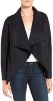 Velvet by Graham & Spencer 'Lux' Reversible Faux Shearling Drape Front Jacket