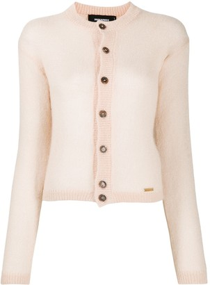 DSQUARED2 Sheer Knit Button-Up Cardigan