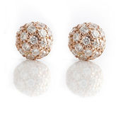 Gump's Sethi Couture Pavé Diamond Petite Dome Earrings
