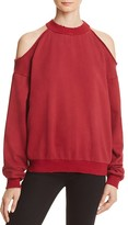 Honey Punch Cold Shoulder Sweatshirt