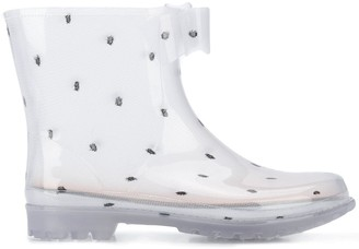 RED Valentino RED(V) point d'esprit tulle rain boots
