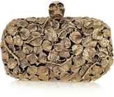 Alexander McQueen Engraved leaf and thorn box clutch